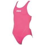 Arena Girls Solid Swim Tech JR Youth Fresia Rose/White