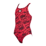 Arena Girls Tag JR One Piece Youth Red/Multi