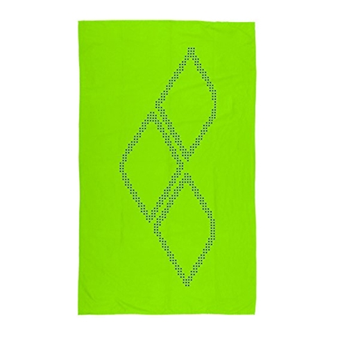 Arena Halo Hand Towel Unisex Acid Lime/Pix Blue