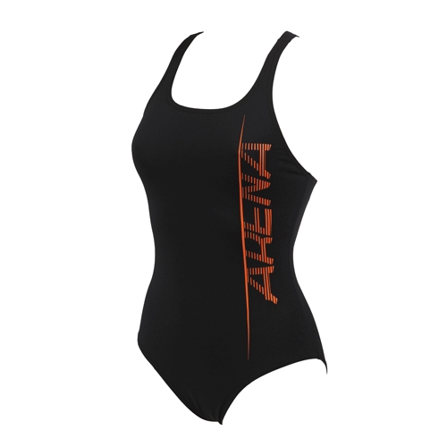Arena Imprint One Piece Women's Black/Mango