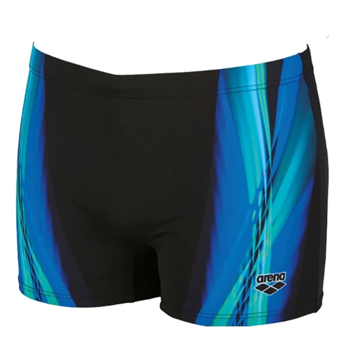 Arena Iridiscent Short Men's Black/Turqoise