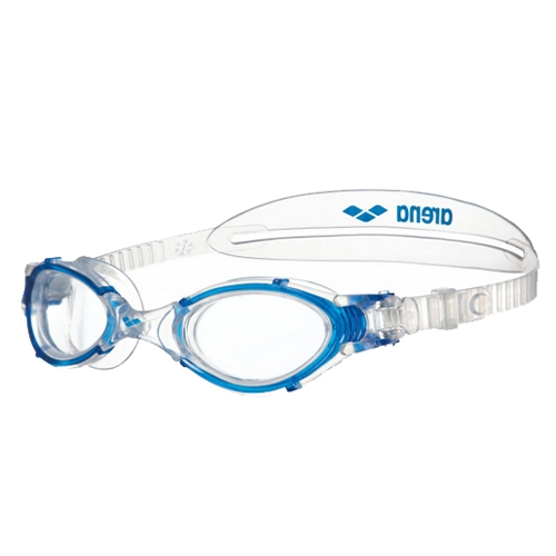 Arena Nemesis Crystal Medium Unisex Clear/Clear/Blue