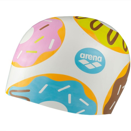 Arena Poolish Moulded Cap Unisex Donuts White