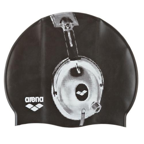 c1dc83b0b8be Arena Poolish Silicone Cap Unisex Headphone/Black - Arena Style # 91830-35  F14