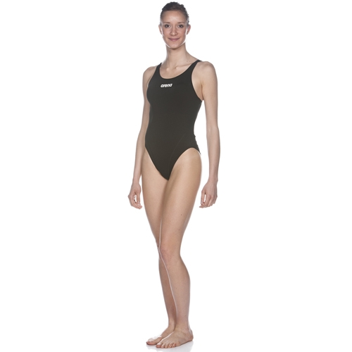 Arena Solid Swim Tech High Women's Black/White