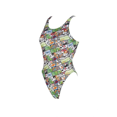 Arena Summer Comics Swim Tech Women's Shiny Green-Multi