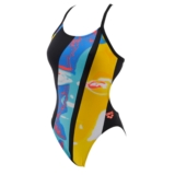 Arena Swimmer High One Piece Women's Black/Multi