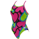 Arena Tickers One Piece Women's Rose Violet/Green