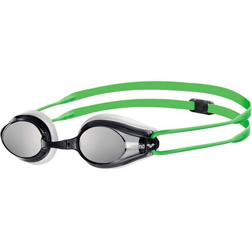Arena Tracks JR Mirror Goggles Kid's Silver/Black/Fluoyellow