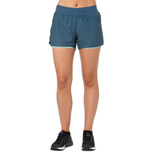 "Asics Cool 2-In-1 3.5"" Short Women's Dark Blue"
