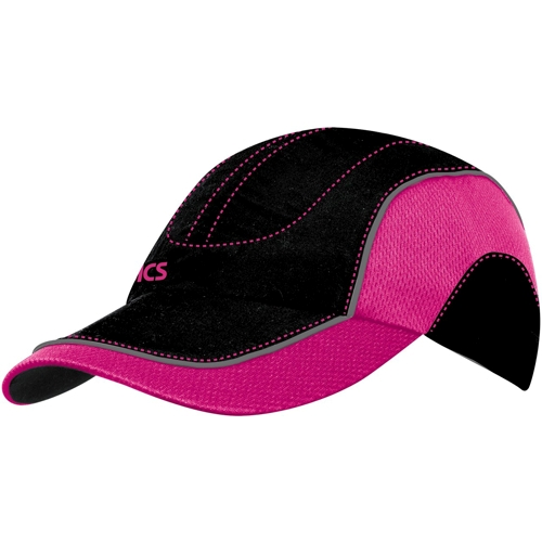asics elite run cap s black neon pink running free