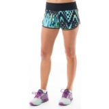 "Asics Everysport Short 4"" Women's Turqoise Check Print"