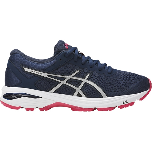 Asics GT 1000 6 Women's Blue/Silver/Rouge - Asics Style # T7A9N.5093 C18