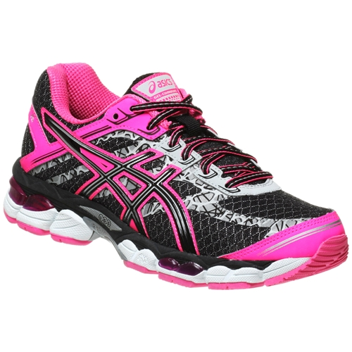 asics gel cumulus 15 lite show women 39 s black onyx flash pink running free canada. Black Bedroom Furniture Sets. Home Design Ideas