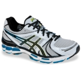 Asics Gel Kayano 18 Men's White/Black/Blue