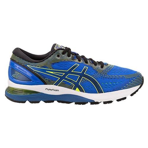 Asics Gel Nimbus 21 Men's Illusion Blue/Black - Asics Style # 1011A169.400 S19