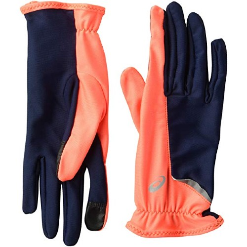Asics Running Gloves Women's Coral/Peacoat Blue