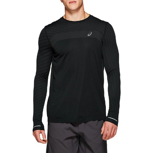 Asics Seamless L/S Texture Men's Performance Black