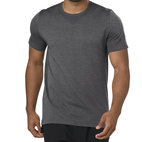 Asics Seamless Short Sleeve Men's Dark Grey Heather
