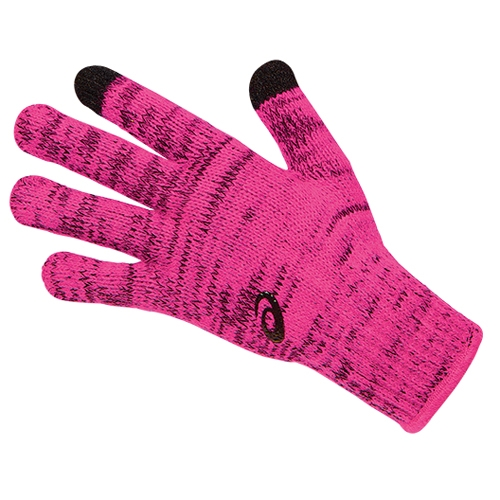 Asics Thermal Glove Liner Women's Pink Glow/Black - Asics Style # ZC2454.0692 F15