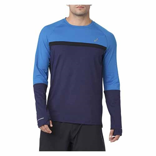 Asics Thermopolis Plus LS Men's Peacoat Heather/Blue