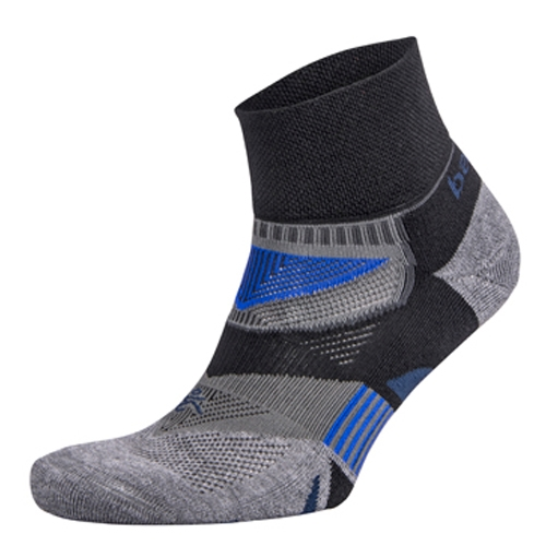 Balega Enduro V-Tech Quarter Unisex Black/Grey Heather - Balega Style # 8971-3339 C20
