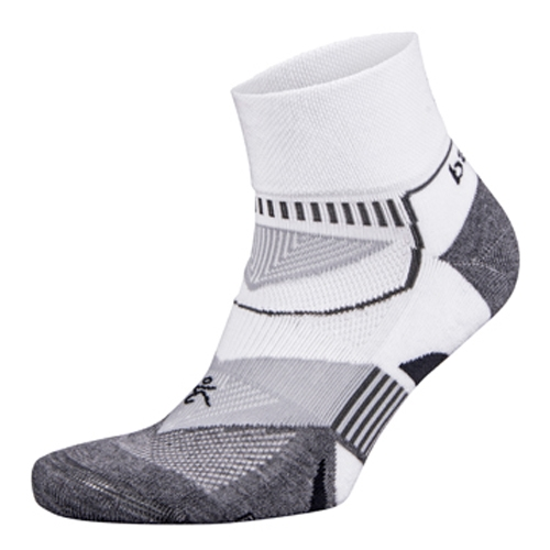 Balega Enduro V-Tech Quarter Unisex White/Grey Heather - Balega Style # 8971-2339 F17