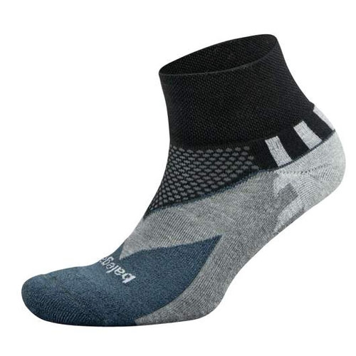 Balega Enduro V-Tech Quarter Unisex Black/Charcoal - Balega Style # 8537-3363 F18