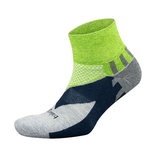 Balega Enduro V-Tech Quarter Unisex Green/Grey Heather