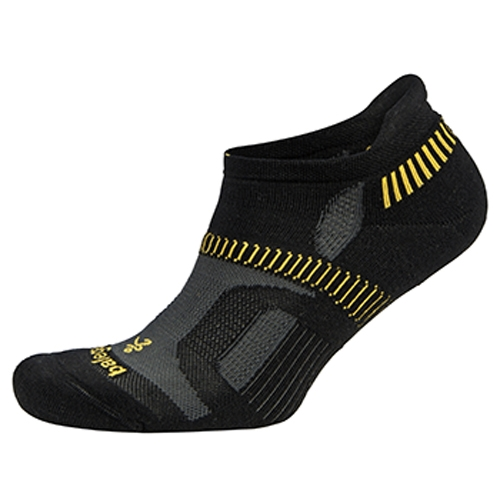 Balega Hidden Contour Unisex Black with Yellow