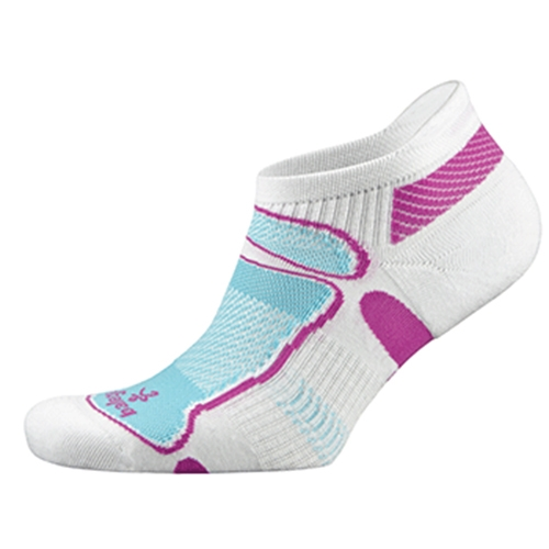 Balega Ultra Light No Show Women's White/Berry/Aqua