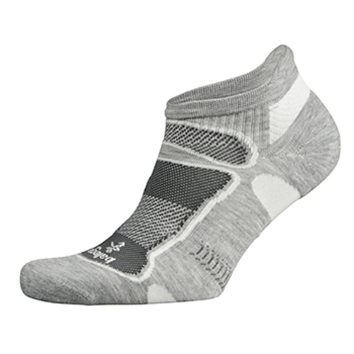 Balega Ultra Light No Show Unisex Grey W/White