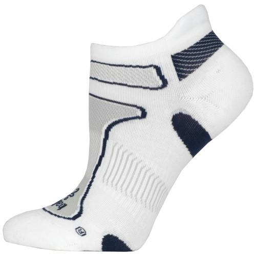 Balega Ultra Light No Show Unisex White/Navy Grey - Balega Style # 8924-2685 S18