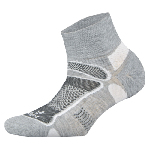 Balega Ultralight Quarter Unisex Grey/White - Balega Style # 8372-3332 S19