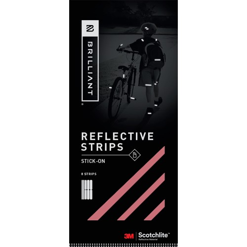 Brilliant Reflective Strips Red Stick-On (8 Strips)
