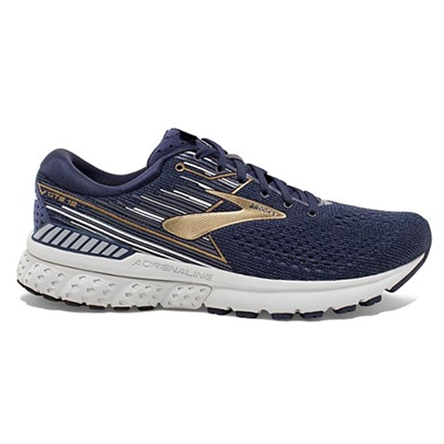 Brooks Adrenaline GTS 19 Men's Navy/Gold/Grey - Brooks Style # 110294 2E 439 S19