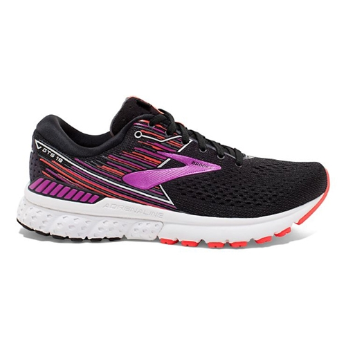 Brooks Adrenaline GTS 19 Women's Black/Purple/Coral - Brooks Style # 120284 1B 080 S19