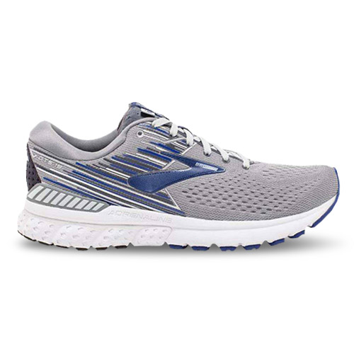 Brooks Adrenaline GTS 19 Men's Grey/Blue/Ebony - Brooks Style # 110294.058 S19 O