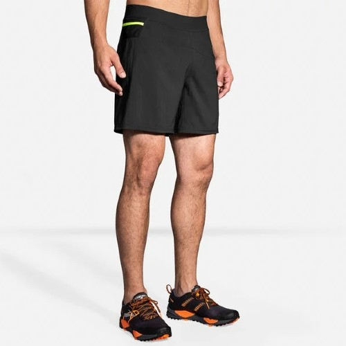 "Brooks Cascadia 7"" 2 in1 Short Men's Black"