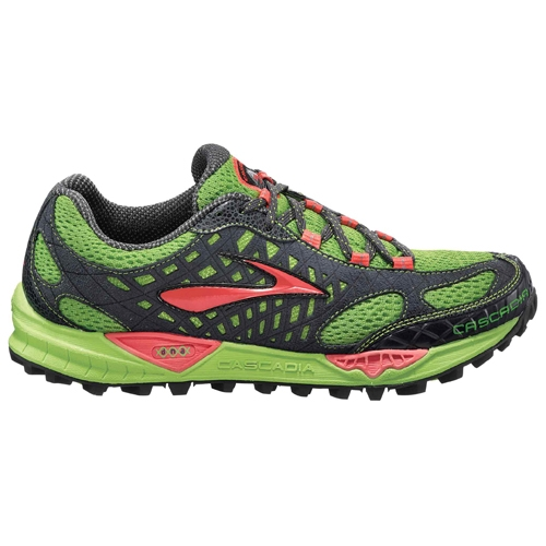 Brooks Cascadia 7 Women's Green/Cayenne/Black - Brooks Style # 1201091B 411 S12