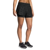 "Brooks Circuit 3"" 2 IN 1 Short Women's Black Embossed/Black"