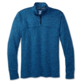 Brooks Dash 1/2 Zip Men's Heather/ Azul