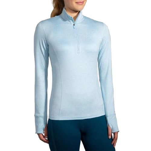 Brooks Dash 1/2 Zip Women's Heather Arctic