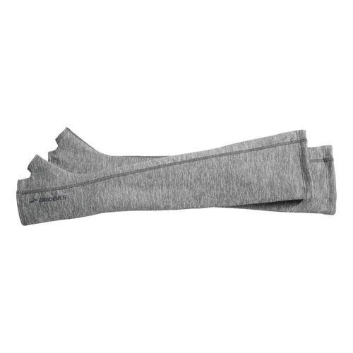 Brooks Dash Arm Warmers Unisex Heather Oxford - Brooks Style # 280357.016 F16 A