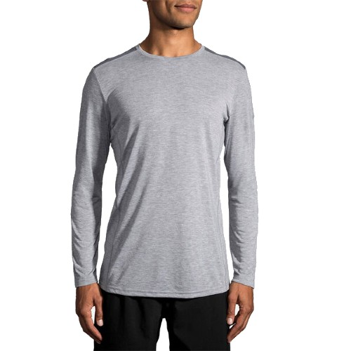 Brooks Distance L/S Men's Heather Ash/Asphalt