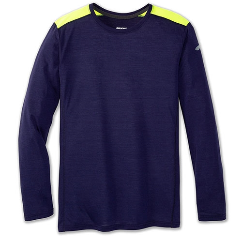 Brooks Distance Long Sleeve Men's Navy/Nightlife - Brooks Style # 211212.410 S19
