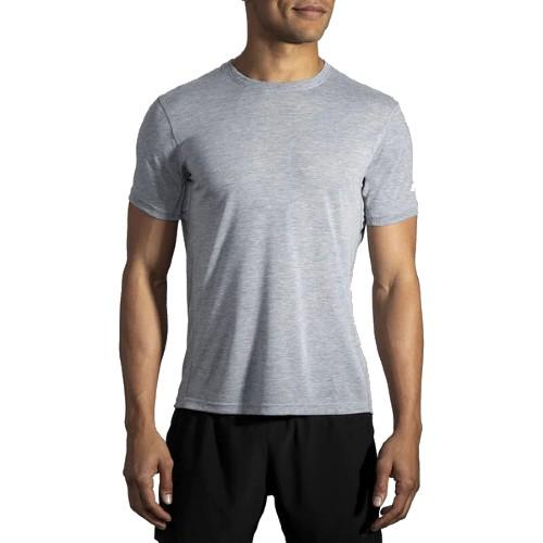 Brooks Distance Short Sleeve Men's Heather Ash