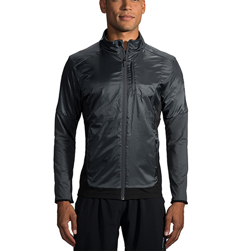 Brooks Fusion Hybrid Jacket Men's Asphalt/Black