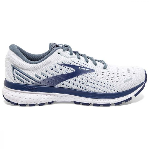 Brooks Ghost 13 Men's White/Grey/Deep Cobalt