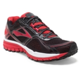 Brooks Ghost 8 Men's Black/HighRiskRed/Silver